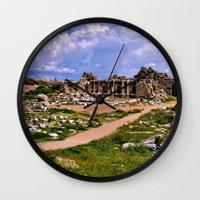 turkey Wall Clocks featuring Side Turkey by helsch photography