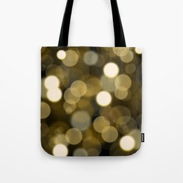 Abstract black gold color modern unfocused lights Tote Bag