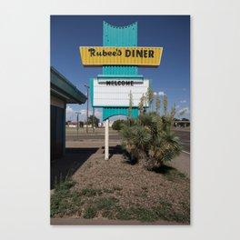 Tucumcari: Rubee's Diner Canvas Print