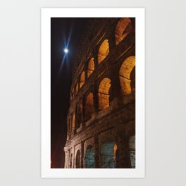 Moonlight over the Colloseum Art Print
