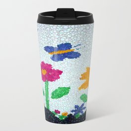 Butterflies and spring flowers bubble art Travel Mug