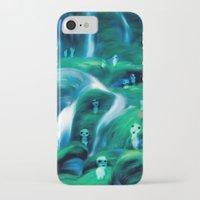 kodama iPhone & iPod Cases featuring Kodama by Carles Marsal