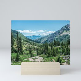 Colorado Wilderness // Why live anywhere else? Amazing Peaceful Scenery with Evergreen Dusted Hills Mini Art Print