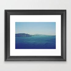 Greek Island Blues Framed Art Print