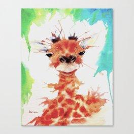 Grinning Giraffe Canvas Print