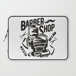 Barber Shop Laptop Sleeve