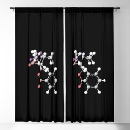 Cocaine Molecule Blackout Curtain