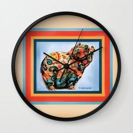 Aqua-Piggy Wall Clock