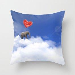 Elephant magic Throw Pillow