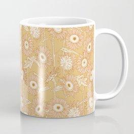 Field of Sunflowers - Gold Coffee Mug