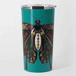 swallowtail butterfly teal Travel Mug