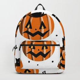 Pumpkin and Black Cat Backpack