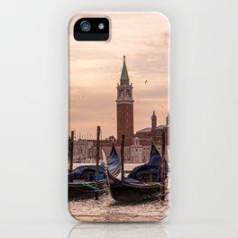 Venice Gondolas at Sunset, Italy Travel Photography, Venice Wall Art, Venecia Foto iPhone Case