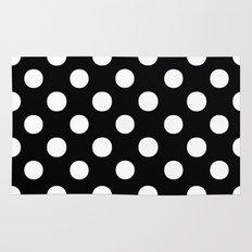 Polka Dots (White/Black) Rug