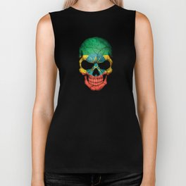 Dark Skull with Flag of Ethiopia Biker Tank