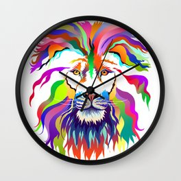 The Lion of Technicolor Wall Clock