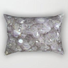 Sparkling Clear Light Purple Amethyst Crystal Stone Rectangular Pillow