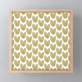 Gold Hearts Framed Mini Art Print