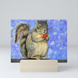 Cheeky Squirrel Painting Mini Art Print