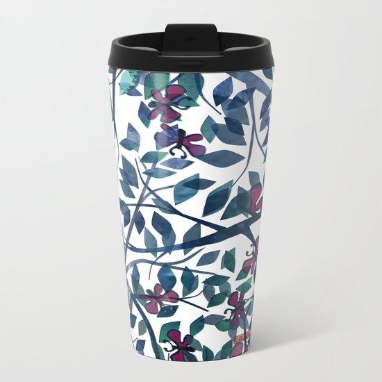 Butterflies in the Garden Metal Travel Mug
