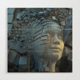 Dissolution of Ego Wood Wall Art