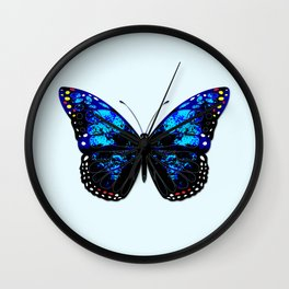 Blue butterfly II Wall Clock