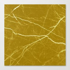 Gold marble abstract texture pattern Canvas Print