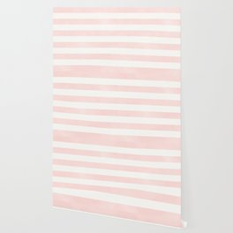 Pink Coral Stripes Wallpaper