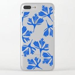 blue leave Clear iPhone Case