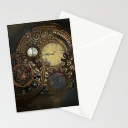 Steampunk Clocks Stationery Cards