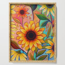 Sunflower Power 2 Serving Tray