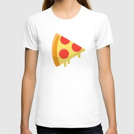 Pizza sticker. Fun cartoon mood. T-shirt
