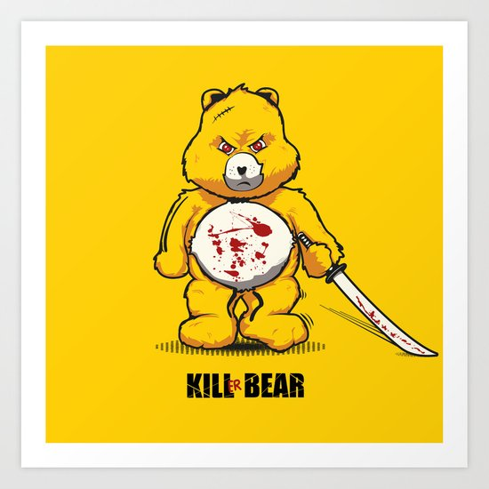 Killer Bear Art Print