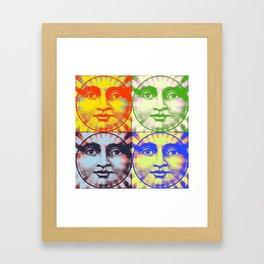 Faces of The Sun & Moon Framed Art Print