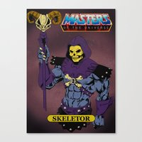 skeletor Canvas Prints featuring Skeletor by W. Keith Patrick