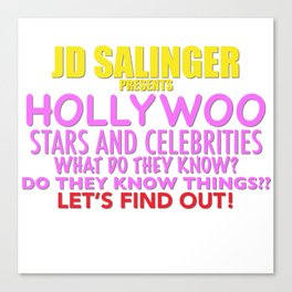 Hollywoo Stars and Celebrities Canvas Print