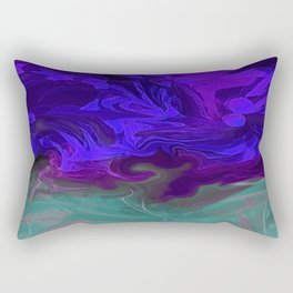 Colorful Fantasy Flowers Abstract 12 Rectangular Pillow