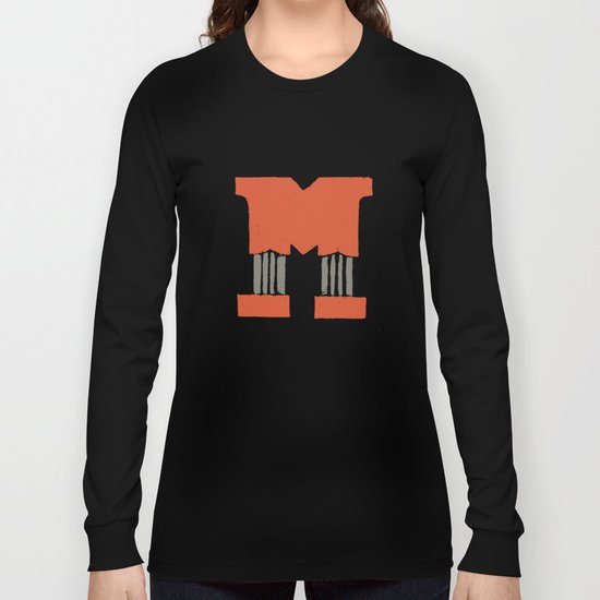 M Lettering Long Sleeve T-shirt