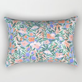 Nonchalant Coral Rectangular Pillow