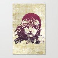 les miserables Canvas Prints featuring Les Miserables Girl by Pop Atelier