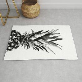 Pineapple Black & White Dream #1 #tropical #fruit #decor #art #society6 Rug