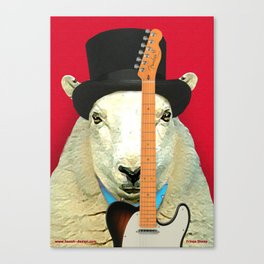 Rock 'n' Roll Sheep with Telecaster Canvas Print