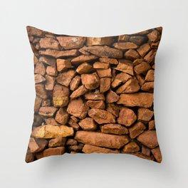 The Rock Wall  Throw Pillow