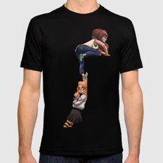 Invisible wall Black Mens Fitted Tee MEDIUM