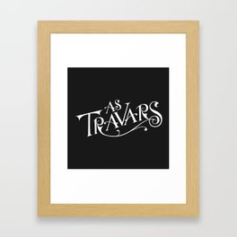 As Travars - to travel (white) Framed Art Print