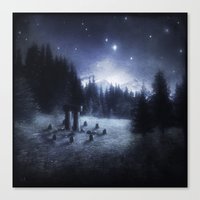 pagan Canvas Prints featuring Pagan Night by Silvana Massa Art