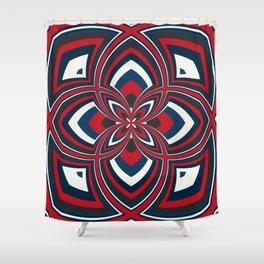 Spiral Rose Pattern B 1/4 Shower Curtain