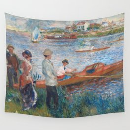 Oarsmen at Chatou Painting by Auguste Renoir Wall Tapestry