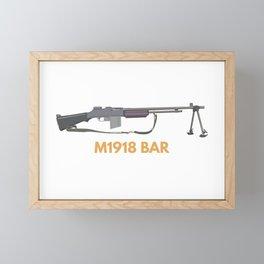 M1918 BAR Framed Mini Art Print