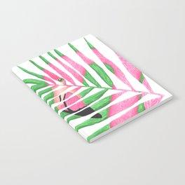Pink Flamingo Palm Leaf Notebook